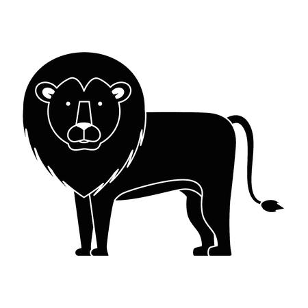 A wild and big lion vector illustration design