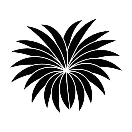 An exotic jungle bush icon vector illustration design