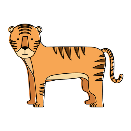 A wild tiger isolated icon vector illustration design Ilustrace