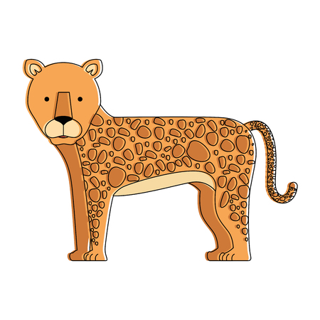 A wild and big lion vector illustration design
