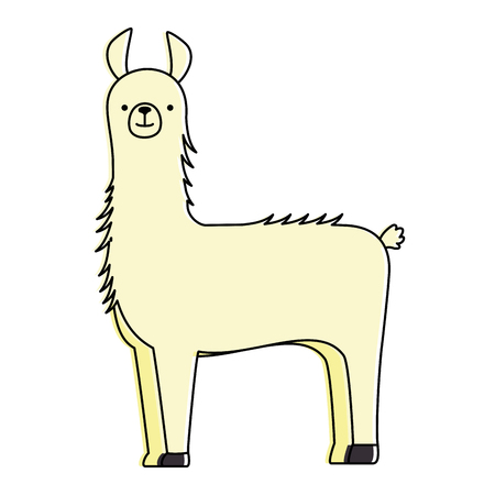 A peruvian llama isolated icon vector illustration design