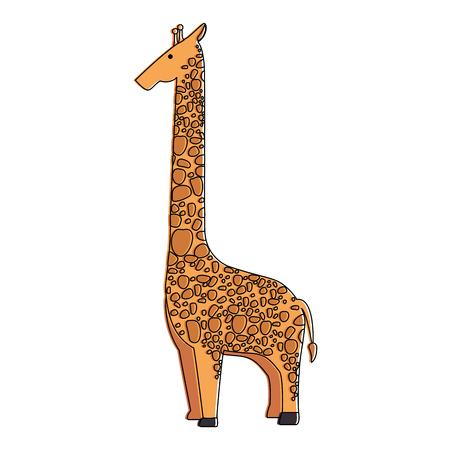Una giraffa selvaggia isolato illustrazione vettoriale illustrazione Archivio Fotografico - 88618645