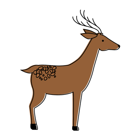 A wild deer isolated icon vector illustration design