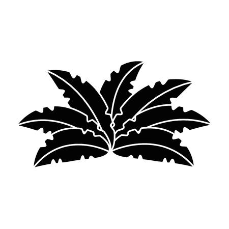 Un design exotique jungle brousse icône vector illustration Banque d'images - 88618760