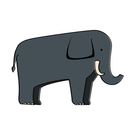 Un elefante salvaje aisló el diseño del ejemplo del vector del icono