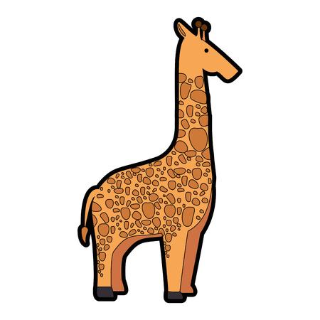 Una giraffa selvaggia isolato illustrazione vettoriale illustrazione Archivio Fotografico - 88620495