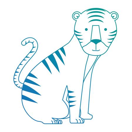 A wild tiger isolated icon vector illustration design Illustration