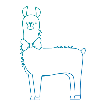 A peruvian llama isolated icon vector illustration design