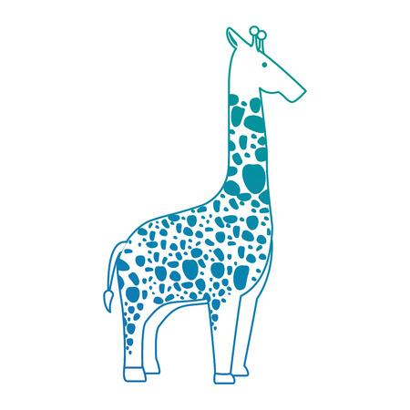 Una giraffa selvaggia isolato illustrazione vettoriale illustrazione Archivio Fotografico - 88620626