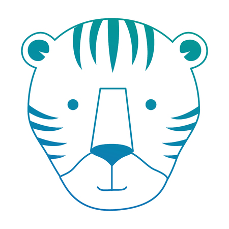 A wild tiger head icon vector illustration design