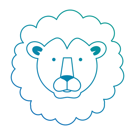 A wild lion head icon vector illustration design