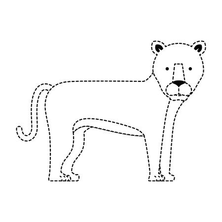 A wild and big lion female vector illustration design Ilustrace