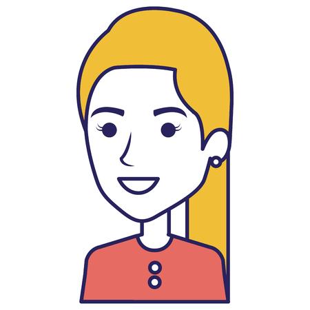 A beautiful woman avatar character vector illustration design Illustration