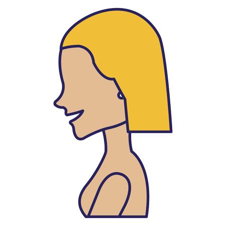 A beautiful woman shirtless avatar character vector illustration design