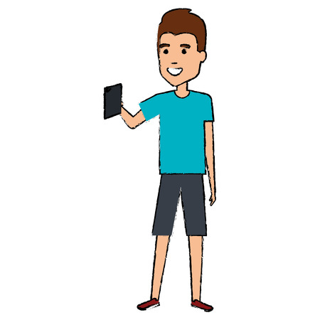 A man taking a selfie vector illustration design Illustration