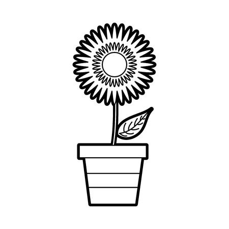 ingemaakte dahlia bloem bloemen ornament tuin beeld vectorillustratie