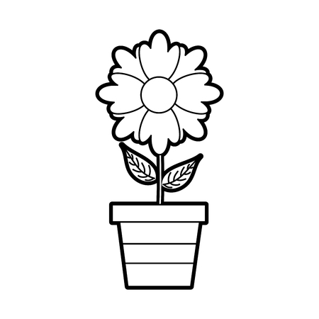 potted flower plant decoration botanical flora vector illustration Illustration