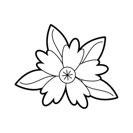 Azafrán flor hojas naturales follaje ornamento vector ilustración Foto de archivo - 88789609