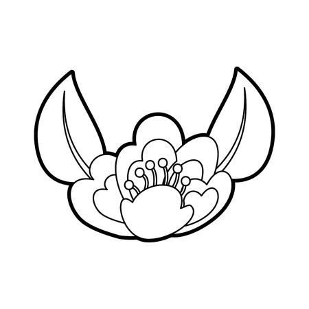 벚꽃 자연 섬세한 만발한 단풍 벡터 일러스트 레이션 일러스트