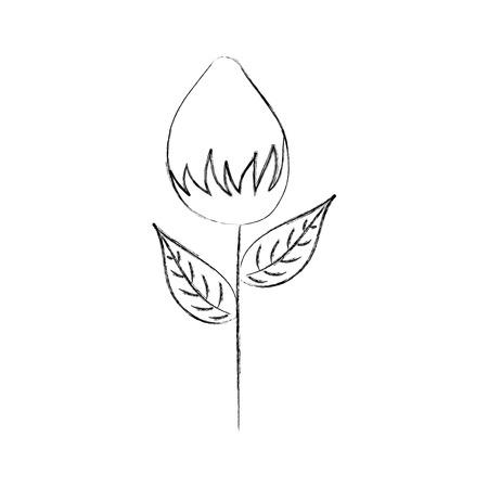 bloementuin groei gloeilamp natuurlijke afbeelding vectorillustratie