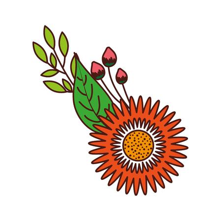 ダリアの花の球根花の飾りベクトル図を葉します。