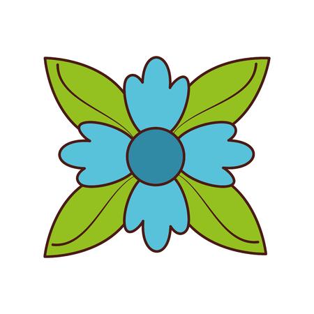 crocus 꽃 자연 단풍 단풍 장식 벡터 일러스트 레이션 일러스트