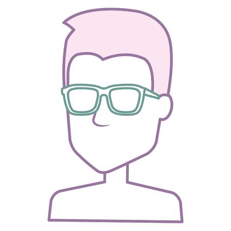 young man shirtless avatar character vector illustration design Stock Vector - 88797337