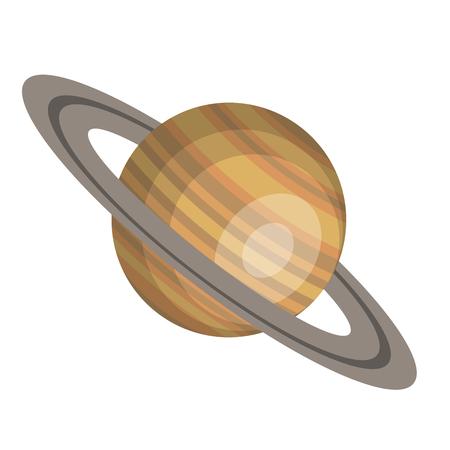 토성 행성 절연 아이콘 벡터 일러스트 디자인 일러스트