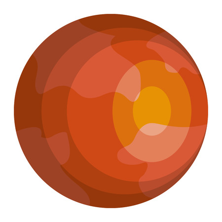 mars planet isolated icon vector illustration design