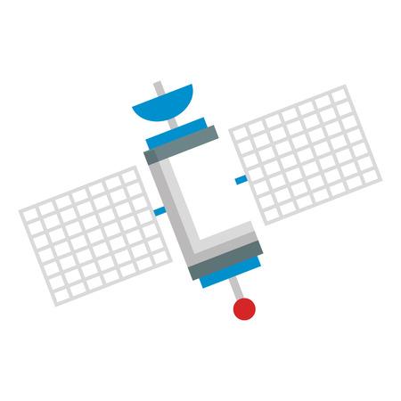 space satellite isolated icon vector illustratie ontwerp Stock Illustratie