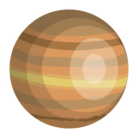 venus planet isolated icon vector illustration design