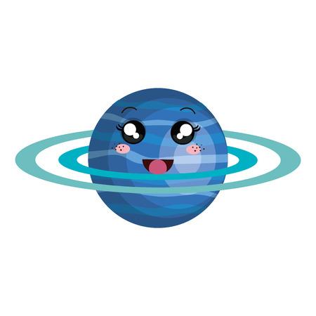 saturn planet character vector illustration design Illustration