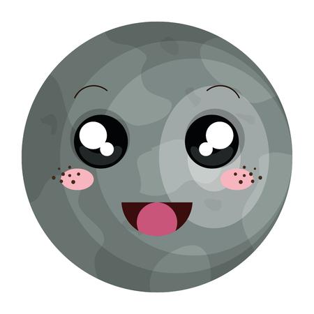 mercury planet character vector illustration design Illustration