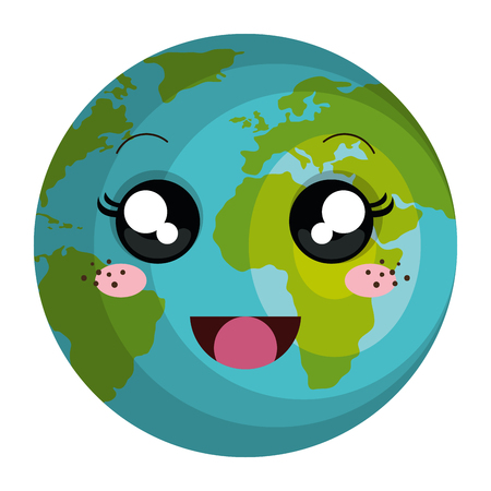 planet earth character vector illustration design