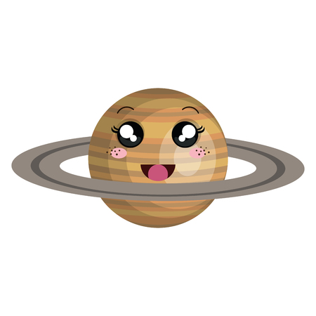 saturn planet character vector illustration design Illusztráció