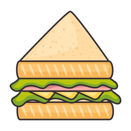 delicious sandwish isolated icon vector illustration design Çizim