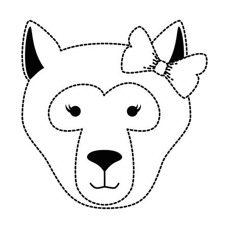 wild bear kodiak head vector illustration design