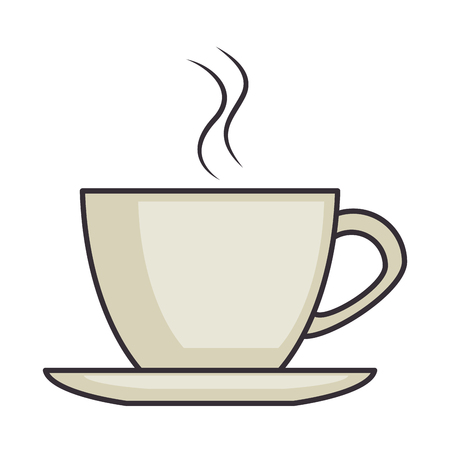 filiżanka kawy na białym tle ikona wektor ilustracja projekt