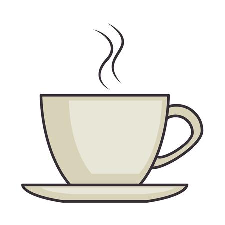 tasse de café isolée icône du design d & # 39 ; illustration vectorielle