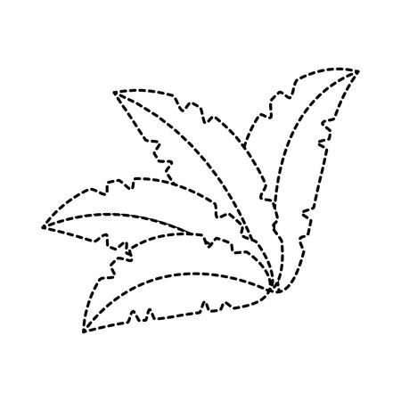 exotic jungle bush icon vector illustration design