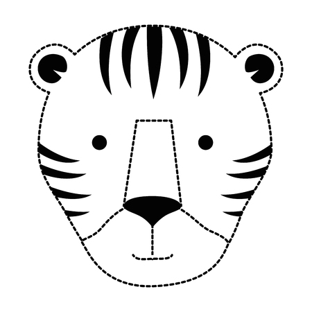 wild tiger head icon vector illustration design