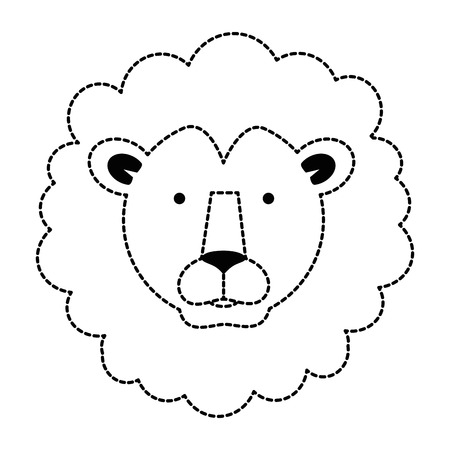 wild lion head icon vector illustration design Ilustrace