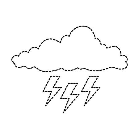 光線嵐ベクトル イラスト デザインとクラウドします。