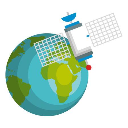 planeta ziemia z satelity ilustracji wektorowych Ilustracje wektorowe