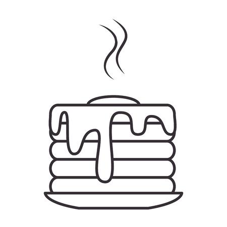 delicious pudding isolated icon vector illustration design