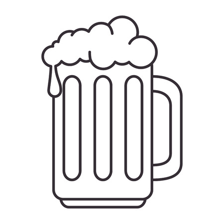 beer jar isolated icon vector illustration design Stock Illustratie
