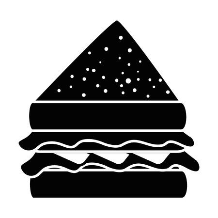맛있는 sandwish 격리 된 아이콘 벡터 일러스트 레이 션 디자인 일러스트