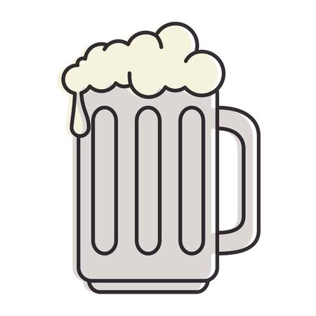 Pot de bière isolé icône du design illustration vectorielle Banque d'images - 88826821