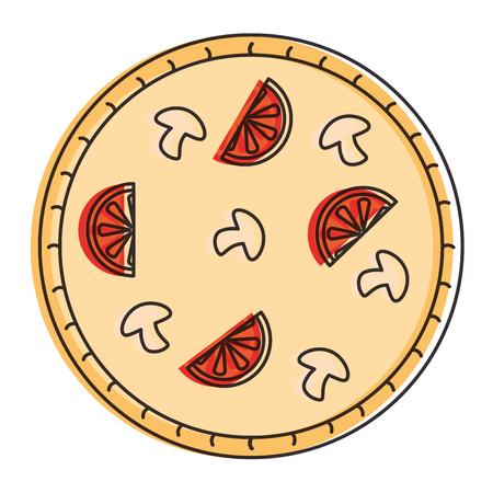 delicious italian pizza icon vector illustration design 向量圖像