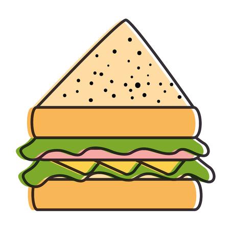 delicious sandwish isolated icon vector illustration design Ilustração